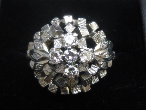 Platinum & Diamond Cocktail Ring (1 of 7)