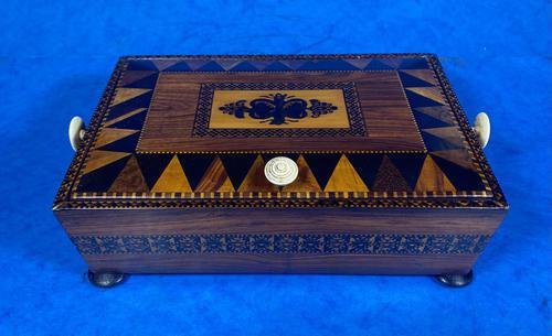 Georgian Kingwood & Tunbridge Ware Table Box (1 of 14)