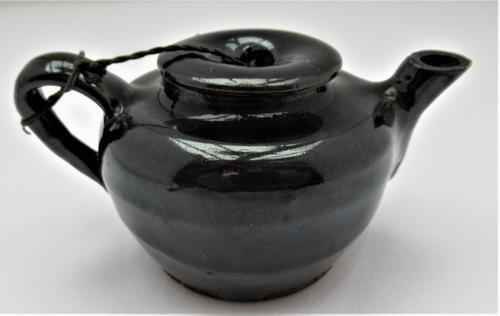 Chinese Black Glazed Stoneware Teapot & Cover, Qing Dynasty, 18th Century (1 of 8)