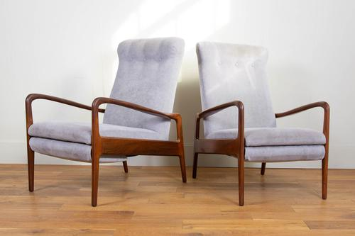 Greaves & Thomas Mid Century Teak Reclining Armchair - We Have 2 (1 of 16)