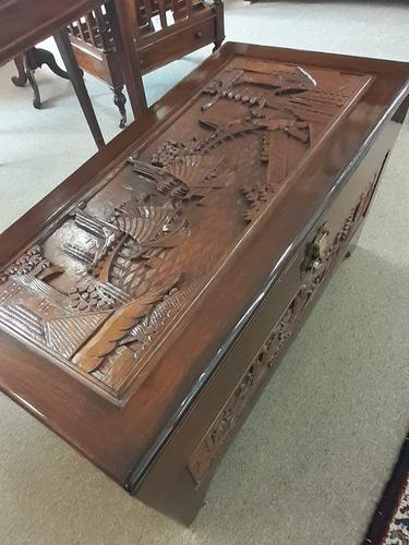 Chinese Wooden Chest (1 of 4)