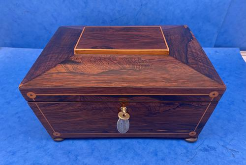 William IV Rosewood Box with Boxwood Inlay (1 of 10)