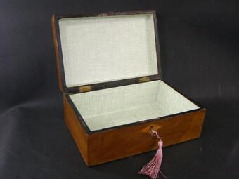 Victorian Antique Mahogany Domed Writing Slope Document box Tunbridge Centre (1 of 5)