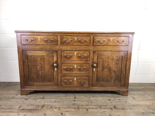 Antique George III Oak Dresser Base (1 of 7)