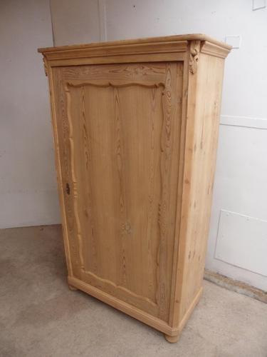 Large Georgian 1 Door Antique Pine Kitchen/Storage Cupboard to wax / paint (1 of 9)