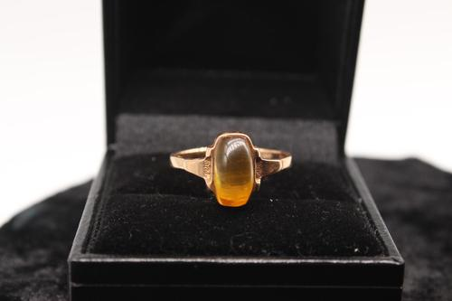 14ct Russian Gold Ring, size Q, weighing 2.5g (1 of 6)