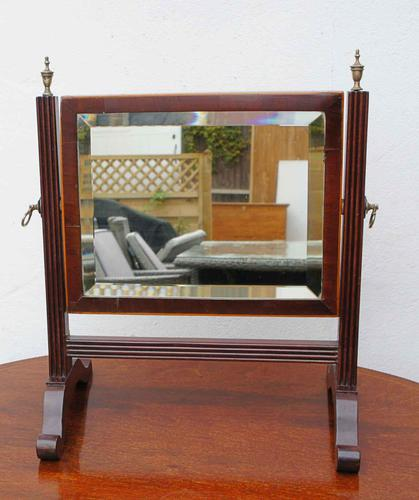 Small Victorian Mahogany Dressing Table or Toilet Mirror (1 of 8)