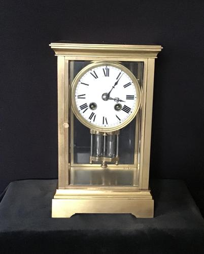 Clock 4 Glass Mantle Victorian (1 of 8)