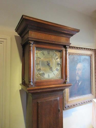 Small George II Period Antique Cottage Longcase Clock (1 of 8)