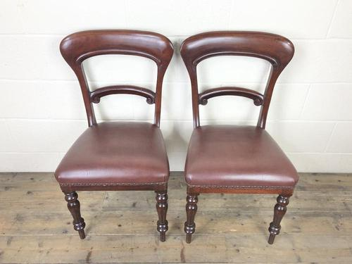 Pair of Victorian Mahogany Chairs (1 of 8)