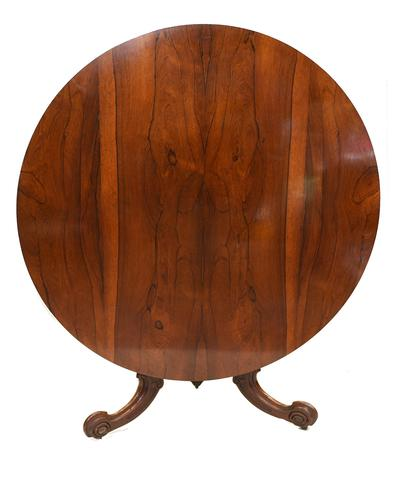 Victorian Round Dining Table Rosewood Centre Tables 1860 (1 of 12)
