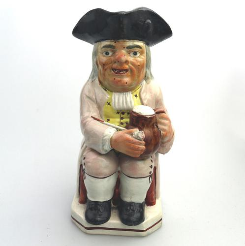 Good Staffordshire Pearlware Toby Jug Early 19th Century (1 of 12)