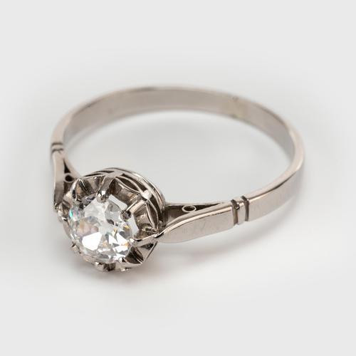Art Deco 0.40 Carat Old Cut Diamond Solitaire Engagement Ring c.1920 (1 of 7)