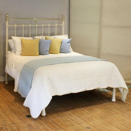 Cream Antique Platform Bed (1 of 5)