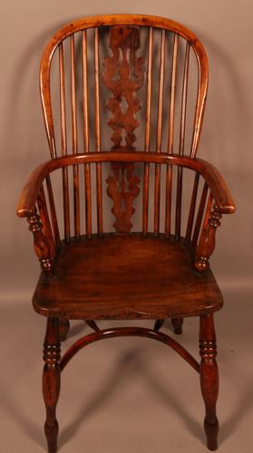 Yew Wood High Windsor Chair Benjamin Gilling (1 of 10)