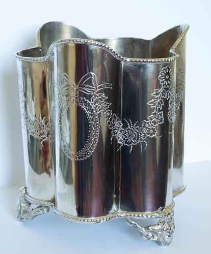 Edwardian Silver Plated Wine / Champagne Bucket (1 of 6)
