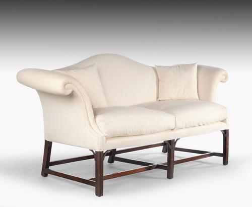 Attractive Early 20th Century Camelback Scroll Arm Sofa (1 of 6)