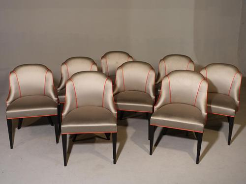Good Set of 8 Art Deco Period Salon Chairs (1 of 7)