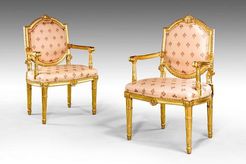 Pair of Italian 19th Century Elbow Chairs (1 of 6)