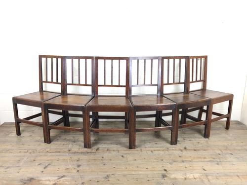 Set of Six 19th Century Welsh Oak Farmhouse Chairs (1 of 14)