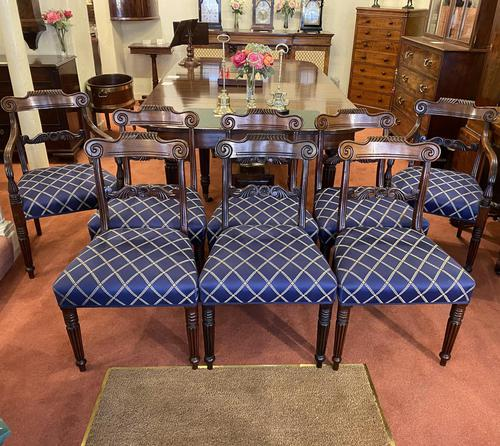 Impressive Set of Eight Mid 19th Century Mahogany Dining Chairs (1 of 5)