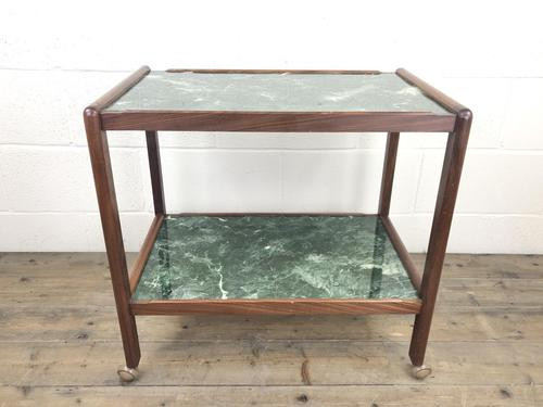 Two Tier Faux Marble Drinks Trolley (M-1584) (1 of 6)
