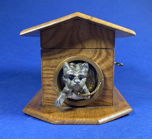 Victorian French Chestnut Dog Kennel Money Box (1 of 10)