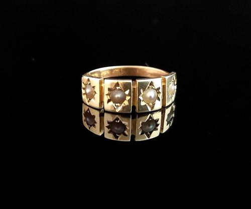 Antique 15ct Gold Pearl Ring, Edwardian (1 of 12)