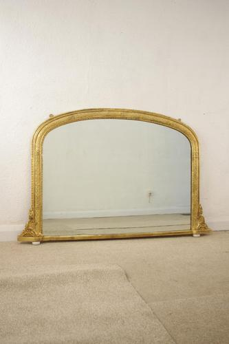 Gilt Arch Top Overmnatle Mirror (1 of 11)