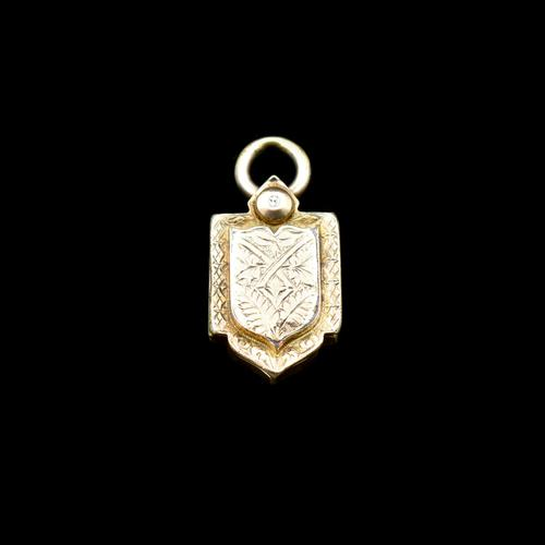 Antique Victorian Rolled Gold Shield Locket Pendant (1 of 5)