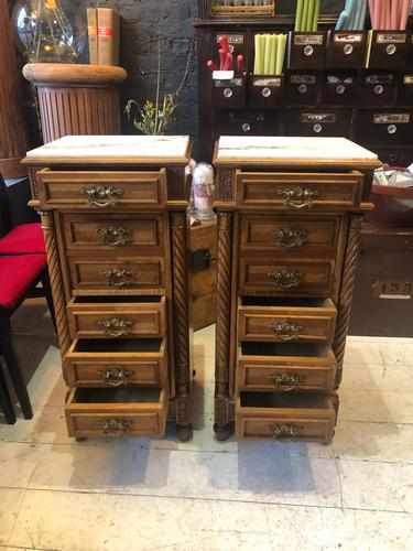 Pair of French Bedside Tables (1 of 7)