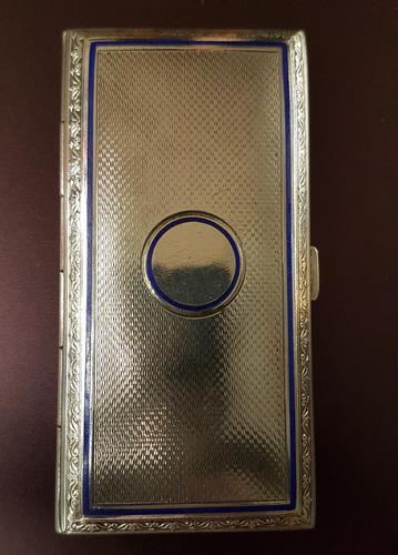 Art Deco Silver & Enamel Cigarette Case (1 of 4)