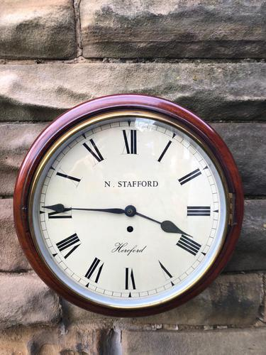 Antique Mahogany Fusee Dial Clock Stafford  Hereford (1 of 11)