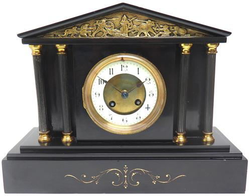 Amazing French Slate 8 Day Striking Mantle Clock (1 of 12)