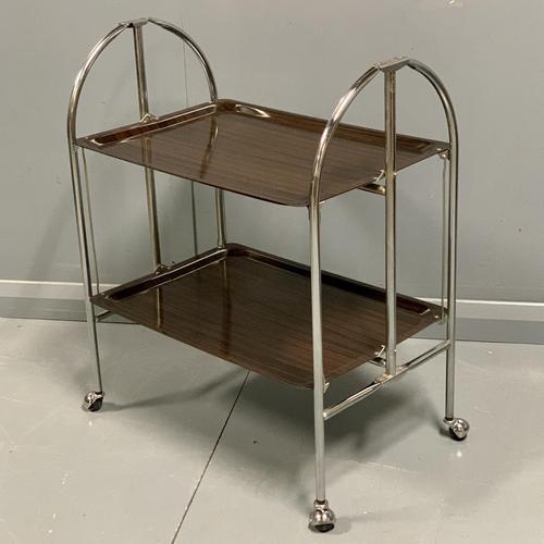 Vintage Gerlinol Folding Drinks Trolley with Capped Castors (1 of 6)
