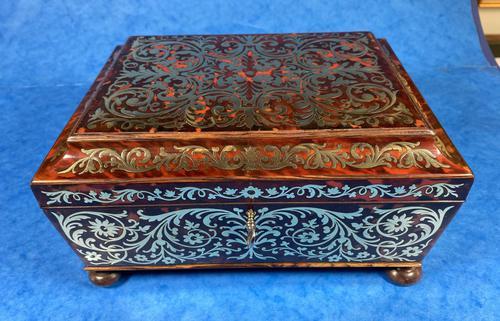English Boulle & Brass Kingwood Edged Jewellery Box (1 of 16)