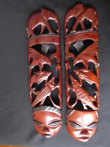Pair of African Wall Carvings (1 of 4)