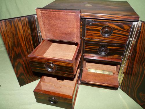 Rare Calamander Cabinet of Drawers. Very Versatile. c1880 (1 of 19)