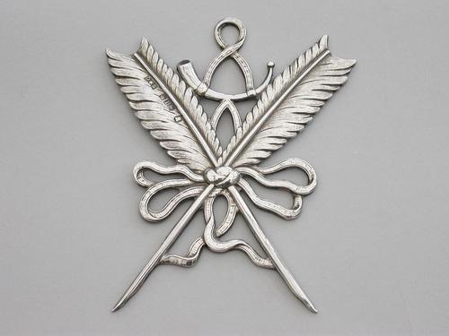 William IV Masonic Silver Secretary's Jewel by J Dixon & Sons, Sheffield, 1833 (1 of 7)