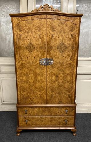 Queen Anne Burr Walnut Fitted Wardrobe (1 of 15)