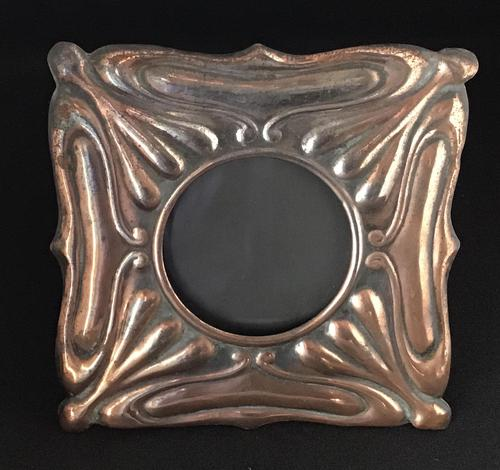 Arts & Crafts Copper Effect Easel Photo Frame c 1880 (1 of 4)