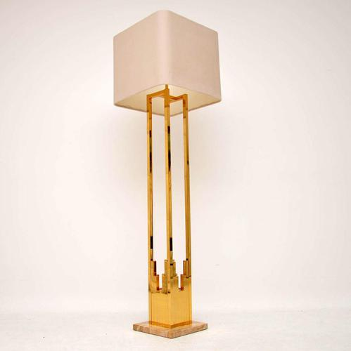 1970's Vintage  Italian Brass & Marble Lamp by F. Fabbian (1 of 10)
