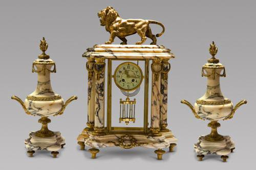 19th Century French Marble Clock Set (1 of 7)
