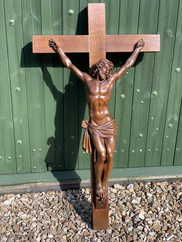 Large Oak Crucifix (1 of 6)