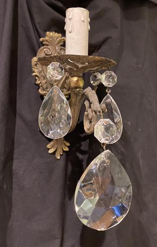 Pair of Small French Antique Wall Lights (1 of 7)