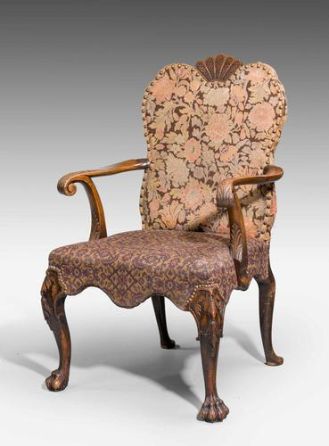 Late 19th Century Walnut Library Chair (1 of 9)
