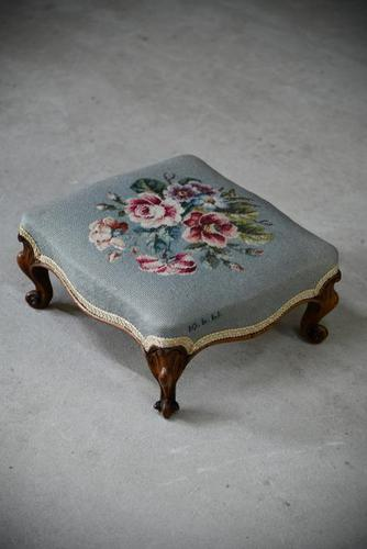 Floral Tapestry Foot Stool (1 of 7)