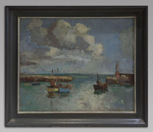 Claude Kitto - Oil on Canvas - A Devon Harbour (1 of 3)