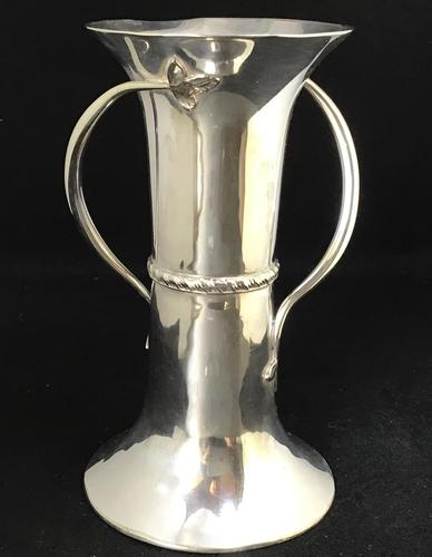 Art Nouveau Silver Plated Vase by George Wish & Son Sheffield (1 of 7)