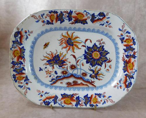 "19th Century, ""Pekin Stone China"" Ironstone Plate (1 of 5)"